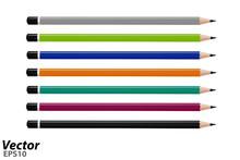 Colored Pencils In A Vector.Se...