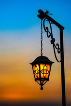 Street Lamp In The Sunset