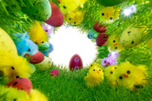 Decorative Easter Chickens And...