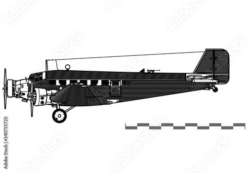Cuadros en Lienzo Junkers Ju-52 Tante Ju, Iron Annie