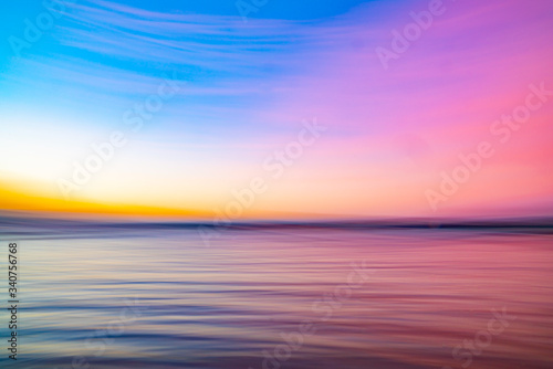 Bright background of accentuated colors of sunset Wallpaper Mural