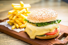 Fresh Cheeseburger With Meltin...