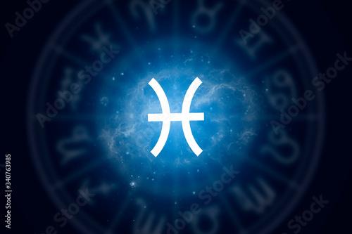 Zodiac sign Pisces on a background of the starry sky Fototapeta