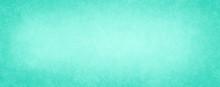 Old Light Blue Green Background, Antique Paper Texture Design With Light Faint Vintage Grunge Borders And Soft White Center, Elegant Distressed Blank Website Banner Or Illustration