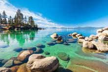 Lake Tahoe Rocky Shoreline In ...
