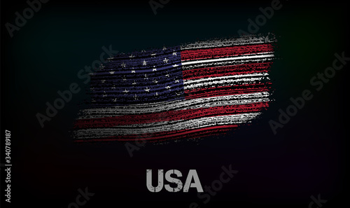 Flag of the USA Fototapet