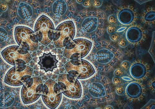 Fototapeta orientalna   oriental-mandala-design-floral-abstract