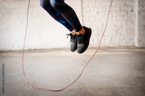 Skipping ropes exercise Canvas Print