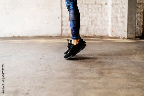 Canvas Print Skipping ropes exercise
