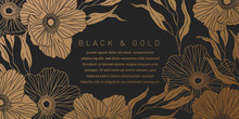 Black And Gold Botanical Backg...