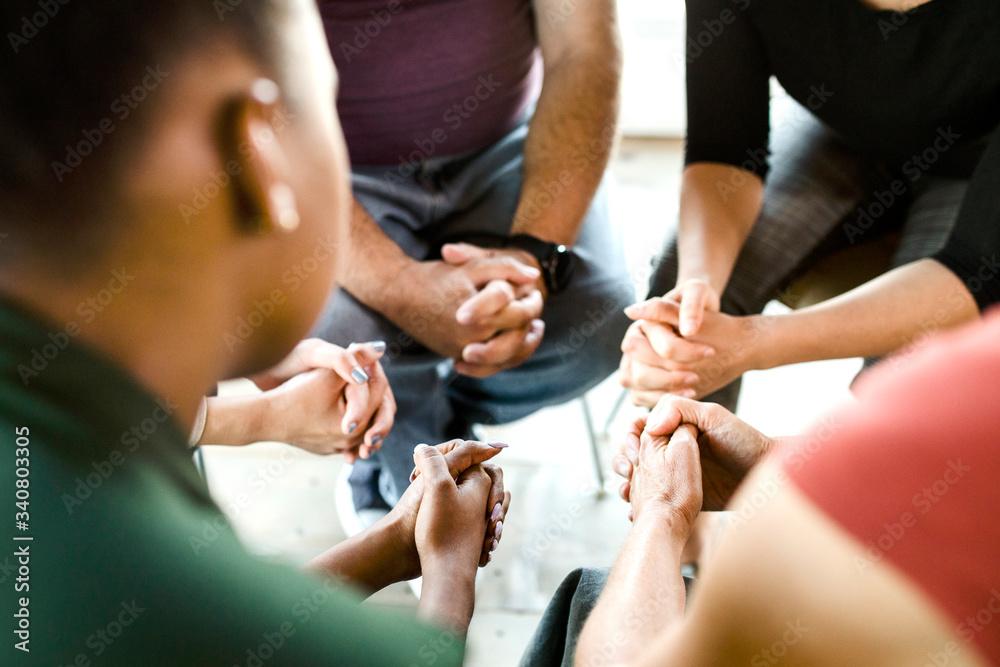 Fototapeta Prayer group session