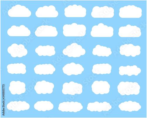 Cuadros en Lienzo 雲のベクターイラストセット