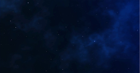 Space background. Starry night sky. Infinite universe and light starry. vector illustration