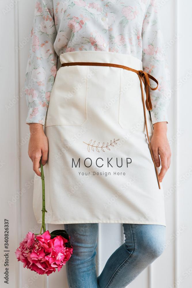 Fototapeta Florist apron mockup