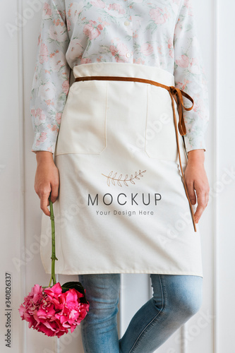 Fotografia, Obraz Florist apron mockup