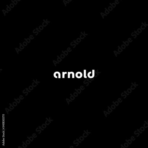 arnold fashion logo design Canvas Print