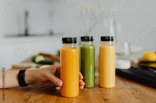 Photo Detox cold-pressed juice in bottles
