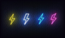 Lightning Bolt Neon. Energy Ne...