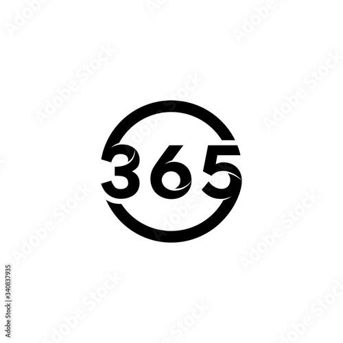 Fotografering 365 number letter logo icon designs vector