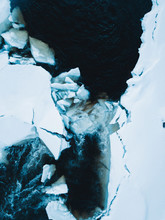 Broken Ice On A Lake