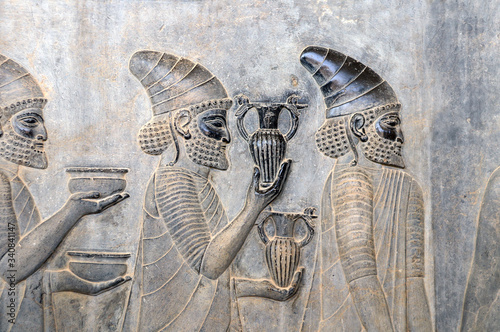 Photo Bas-relief with foreign ambassadors, Persepolis, Iran