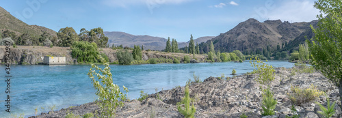 Photo inflow waters at Aviemore lake, New Zealand