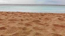 Kenting Baishawan Beach Turquoise Water Waves Crashing On The Beautiful Sand, White Sand Bay, Hengchun Peninsula Of Pingtung County, Taiwan. Drone Dolly 4K Shot.