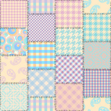 Patchwork Textile Pattern. Sea...
