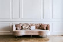 Light Pink Velvet Sofa