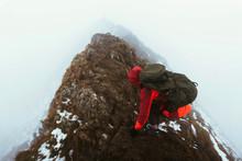 Misty Helvellyn Mountain In En...