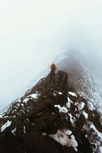Misty Helvellyn Mountain In England