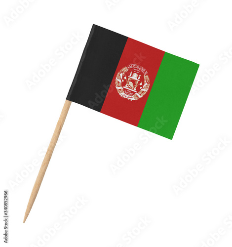 Small paper Afghan flag on wooden stick Wallpaper Mural