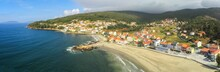Aerial View In Ezaro, Village ...