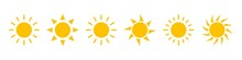 Sun Icons Vector Isolated On W...