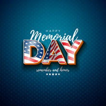 Memorial Day Of The USA Vector...