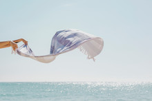 Scarf Flying In The Wind