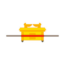 Ark Of The Covenant, Relic Of Christianity, Illustration For Web And Mobile Design.