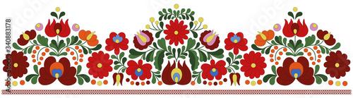 Hungarian embroidery border pattern Billede på lærred