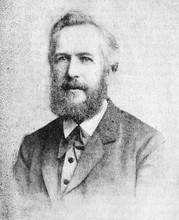 The Ernst Heinrich Philipp August Haeckel's Portrait, A German Zoologist In The Old Book The Main Ideas Of Zoology, By E. Perier, 1896, St. Petersburg