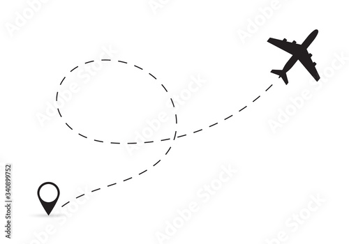 Fotomural Plane route