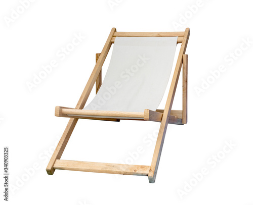 Papel de parede beach chair isolated on white background ,include clipping path