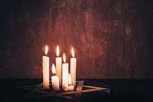 Six Burning Candles And The St...