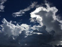 Dramatic Clouds In The Blue Sky