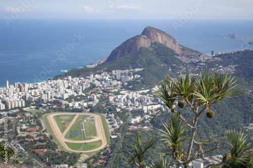 Rio de Janeiro horse race track from the hills Wallpaper Mural