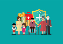 Social Welfare For Children Woman Senior And Disabled People