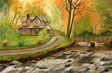 Beautiful Nature Scene With Co...