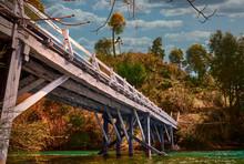 Bridge Over The Lake. Argentina