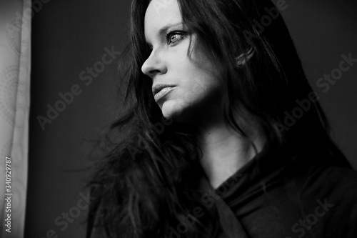 Fototapety, obrazy: Beautiful Young Woman With Long Hair Looking Away