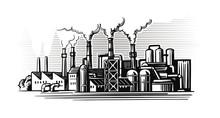 Large Smoking Factory In Sketc...