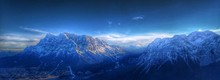 Panoramic View Of Mountains Against Dramatic Sky